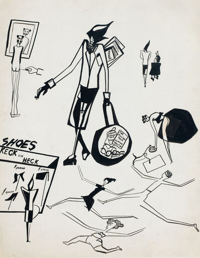 Jacob Lawrence, 'Untitled (Sketches of Gwen)', 1948