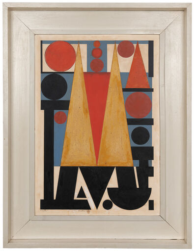 Auguste Herbin, 'Ville', 1958