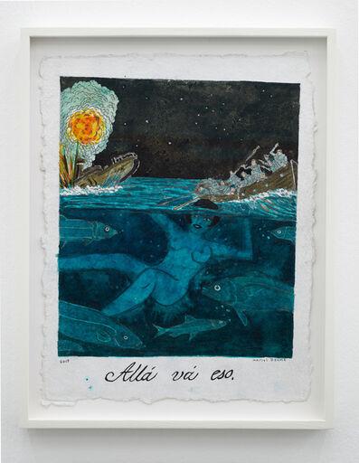 Marcel Dzama, 'Allá vá eso (There it goes)', 2019