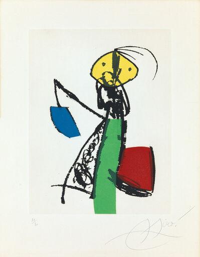 Joan Miró, 'Chanteur des rues II', 1981
