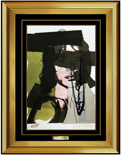 Andy Warhol, 'Andy Warhol Mick Jagger Color Lithograph Hand Signed Original Portrait Pop Art', 1975