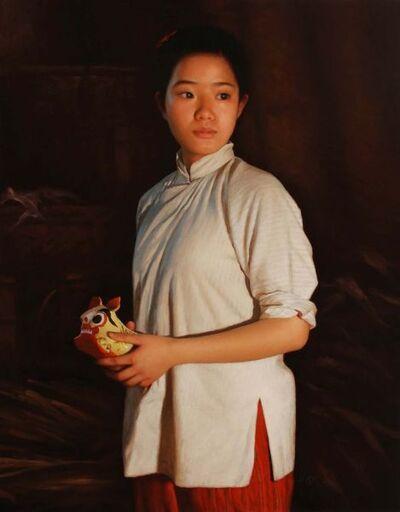Shen Han Wu, 'Girl by Candle Light'