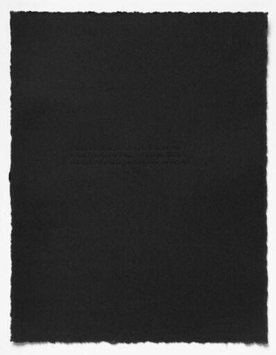 Carl Trahan, 'L'obscurité comme une présence', 2021