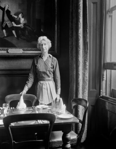 Evelyn Hofer, 'Waitress, Garrick Club, London', 1962