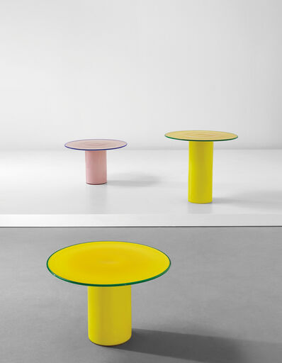 Luciano Vistosi, 'Set of three side tables', 1980s