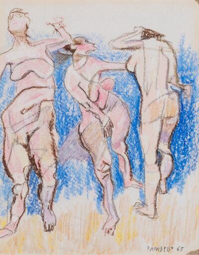 Fausto Pirandello, 'Bathers', 1965