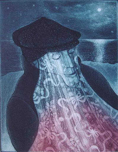 David Blackwood, 'Mummer in Lantern Light', 1993
