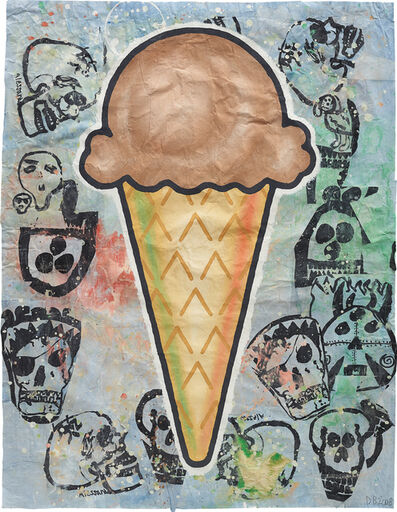 Donald Baechler, 'Brown Cone', 2008
