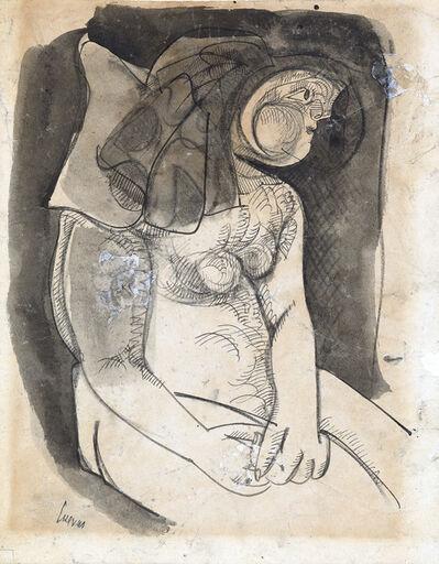 Jose Luis Cuevas, 'Desnudo Sentado', Circa 1955