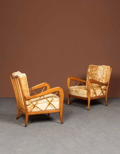 Paolo Buffa, 'Pair of armchairs', vers 1940