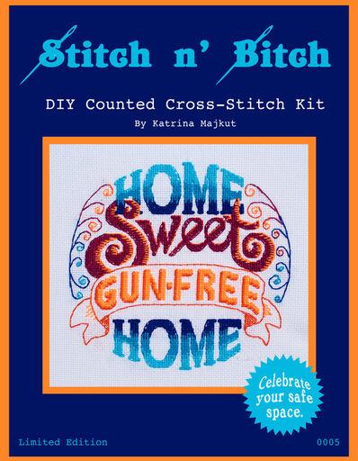 Katrina Majkut, 'Home Sweet Gun-Free Home DIY Counted Cross-Stitch Kit', 2020