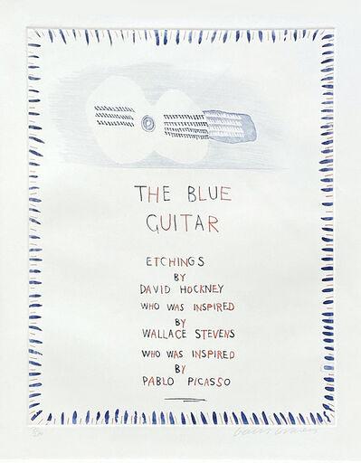 David Hockney, 'The Blue Guitar 1', 1976-1977