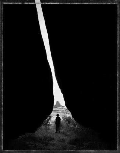 Mark Klett, 'Entering a narrow cave, Salt Creek, Utah, 5/9/90'