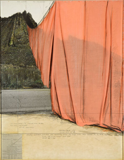 Christo, 'Valley Curtain (Project for Colorado)', 1971