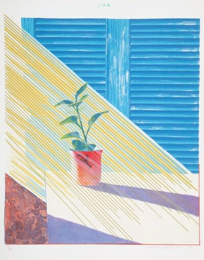 David Hockney, 'Sun, from The Weather Series', 1973