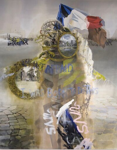 David Kim Whittaker, 'At The Water Cannons, Many Fires Still Burn (Joan of Arc)', 2019