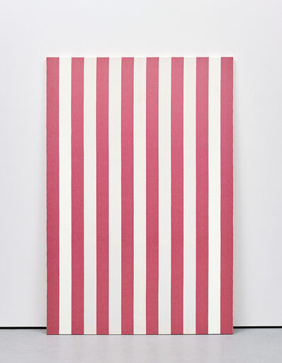 Daniel Buren, 'Peinture acrylique sur tissu rayé blanc et rouge', April 1972