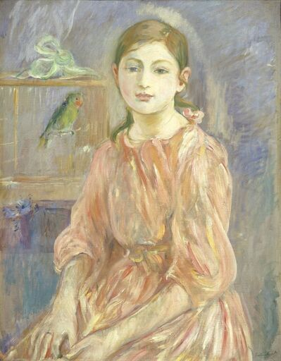 Berthe Morisot, 'The Artist's Daughter with a Parakeet', 1890