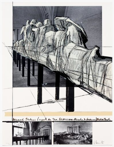 Christo, 'Aegena Temple Project for Munich Glyptotek', 1988
