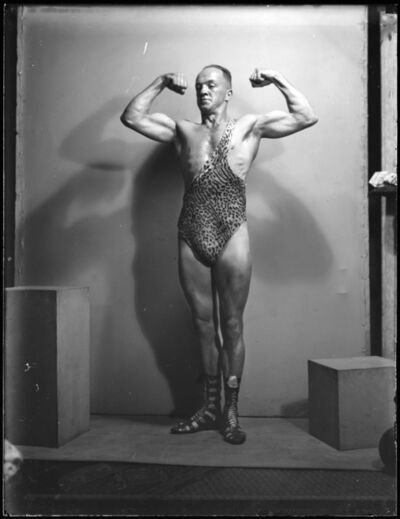 Tom Lennon, 'Portrait of strongman Don Athaldo', 1936