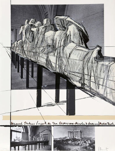 Christo and Jeanne-Claude, 'Wrapped statues (Project for Die Glyptothek-München, West Germany) Aegina temple', 1988