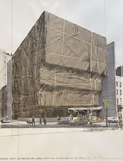 Christo, 'Whitney Museum of American Art, Packed, Project for New York', 1971