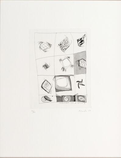 Gastone Novelli, '3 lune 6 aquiloni/Three moon six kites', 1966