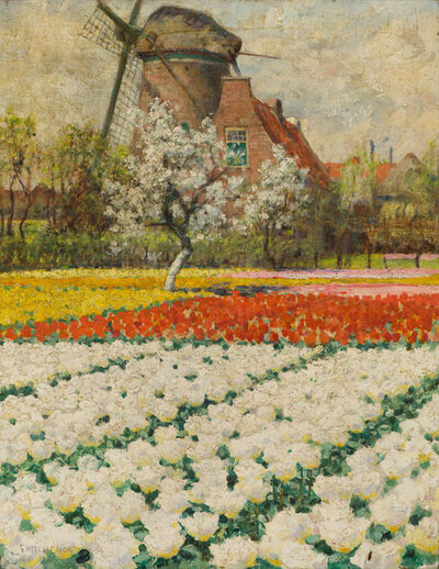 George Hitchcock, 'Double White Tulips', 19th/20th Century