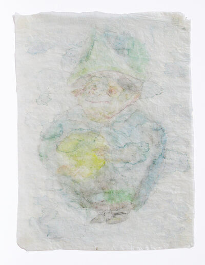 Hany Armanious, 'Drawing on crumpled gift wrap', 2002/2009
