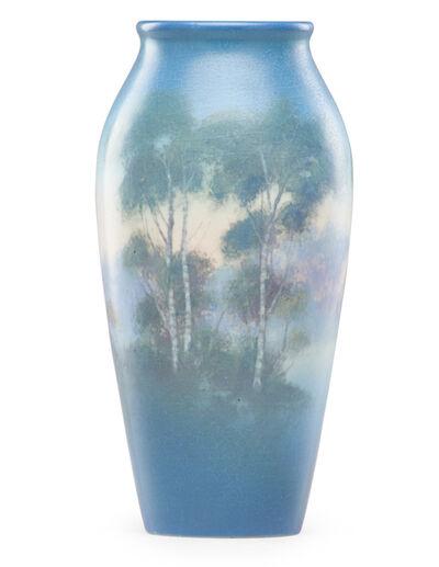 Rookwood Pottery, 'Scenic Vellum vase', 1921