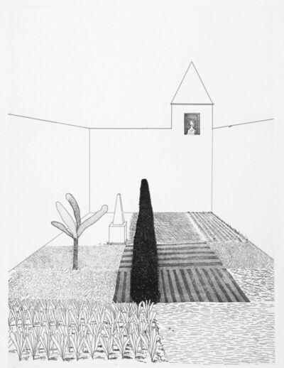David Hockney, 'Rapunzel Growing in the Garden', 1969
