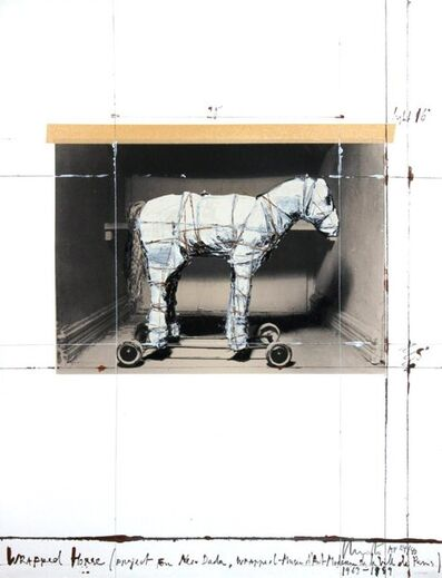 Christo, 'Wrapped Horse (Project for Neo-Dada)', 1989