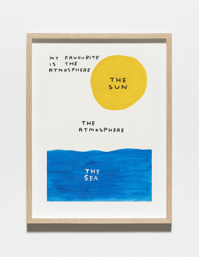 David Shrigley, 'Untitled (My favourite is the atmosphere)', 2019