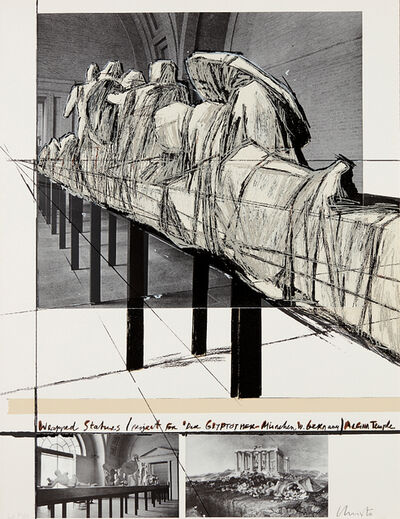 Christo, 'Wrapped statues, Project for Die Glyptothek, München', 1988