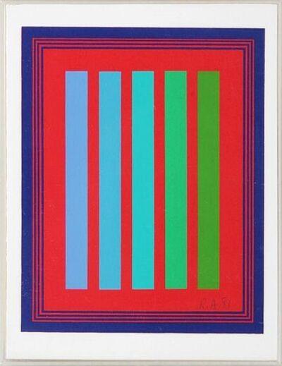 Richard Anuszkiewicz, 'ANNUAL EDITION ', 1981