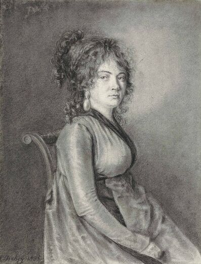 Louis-Gabriel-Eugéne Isabey, 'A seated lady'