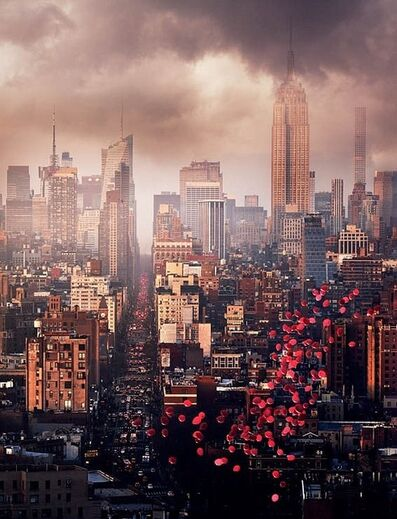 David Drebin, 'David Drebin - Balloons over New York', 2016