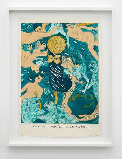 Marcel Dzama, 'With such sad steps the moon must climb.', 2019