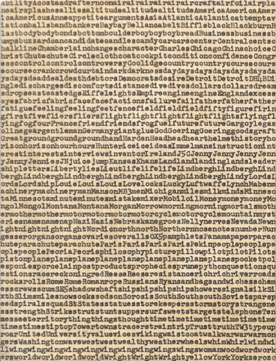 Carl Andre, 'Five Hundred Terms for Charles A. Lindbergh', 1962