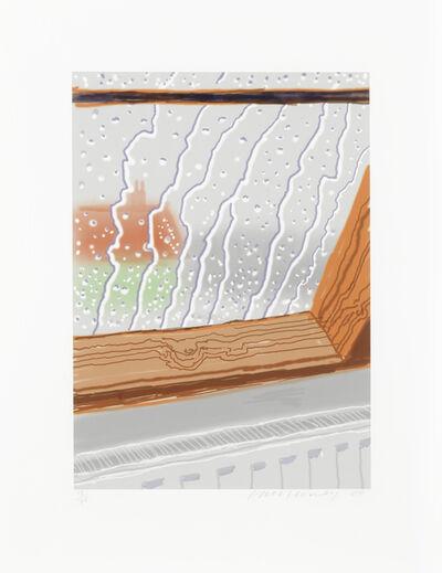 David Hockney, 'Rain on the Studio', 2009