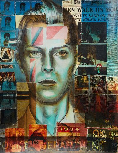 Charlotta Janssen, 'David Bowie (Collaged Print #1)', 2018