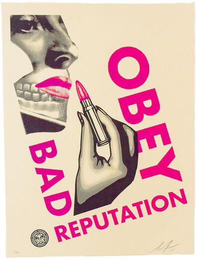 Shepard Fairey (OBEY), 'BAD REPUTATION (Cream)', 2019