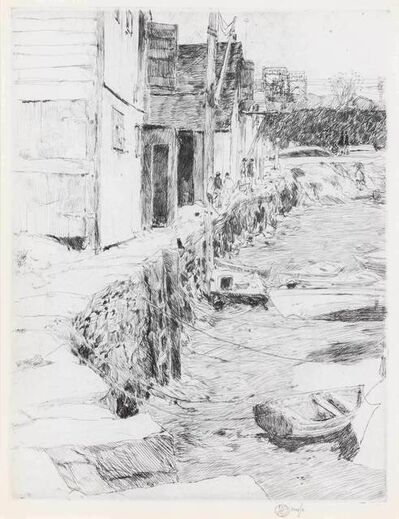 Childe Hassam, 'COS COB DOCK (CORTISSOZ/CLAYTON 58)', 1915