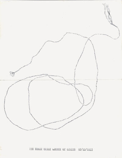 "Lenka Clayton, '""The Exact Right Length of String"" in the series ""Typewriter Drawings""', 2018"
