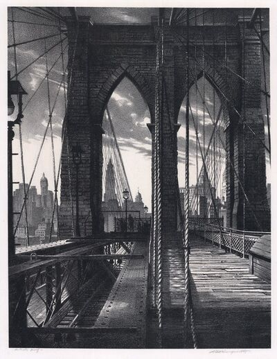 Stow Wengenroth, 'Brooklyn Bridge.', 1950