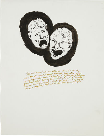 Raymond Pettibon, 'Untitled (The Best Moment...)', 1995