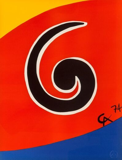 Alexander Calder, 'Untitled, from Flying Colors (five works)', 1975