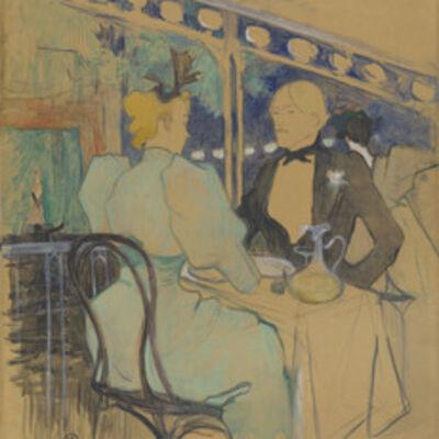 Henri de Toulouse-Lautrec, 'Fashionable People at Les Ambassadeurs (Aux Ambassadeurs: Gens Chic)', 1893