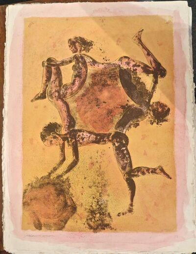 guillermo ceniceros, 'Circulo de baile - hand painted mono print', 1988