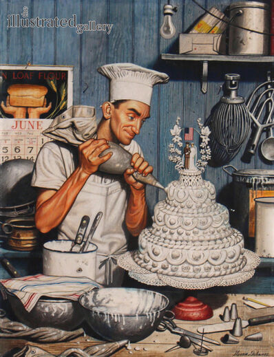Stevan Dohanos, 'Icing the Cake, Cover of The Saturday Evening Post ', 1945
